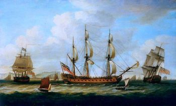 The East Indiaman Francis in Three Positions