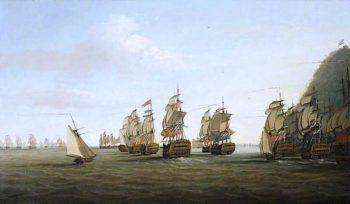 A British Squadron off St Lucia