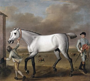 The Duke of Hamiltons Grey Racehorse Victorious at Newmarket | John Wootton | oil painting