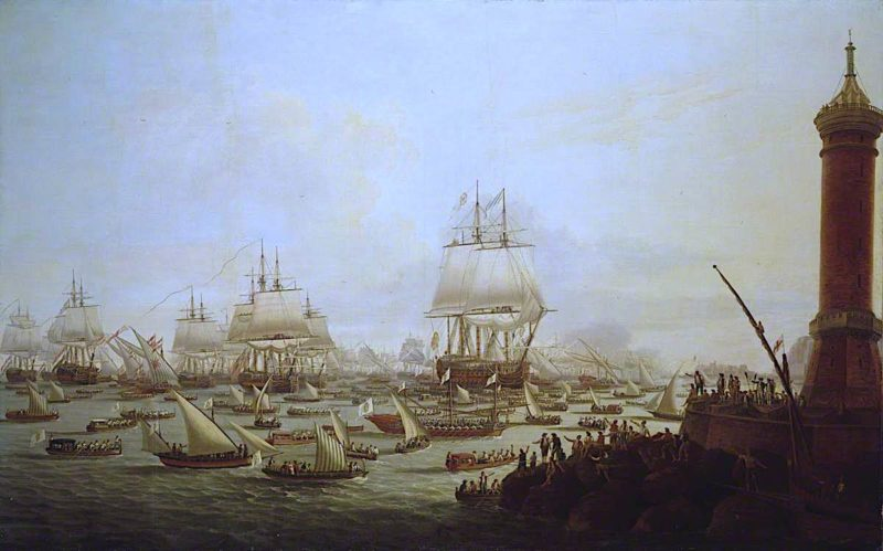 Arrival of Their Sicilian Majesties at Naples