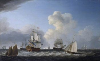 The St George with Other Vessels | Dominic Serres | oil painting