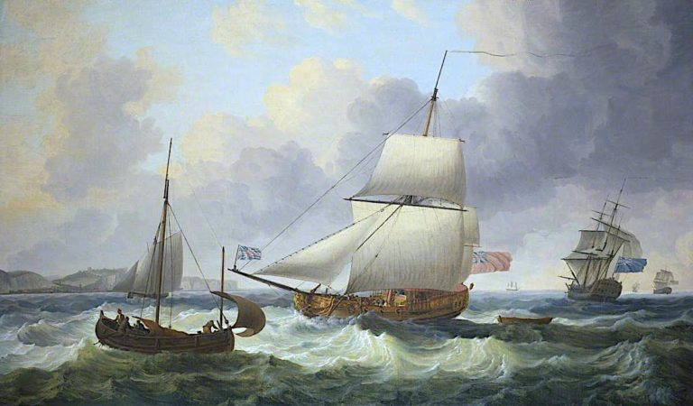 A Ketch Rigged Royal Yacht Close - Hauled on the Starboard Tack | Dominic Serres | oil painting