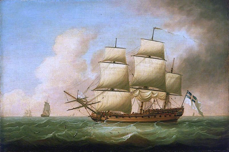 A Frigate | Dominic Serres | oil painting