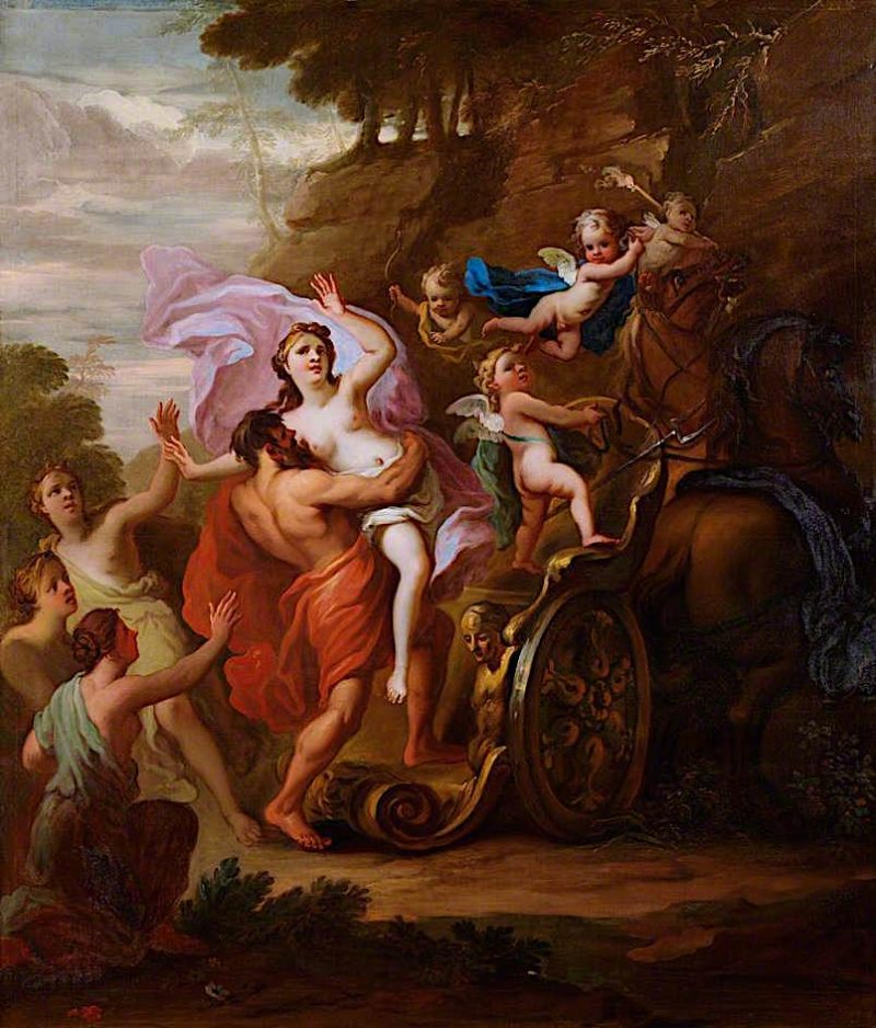 The Rape of Proserpine   James Thornhill   oil painting