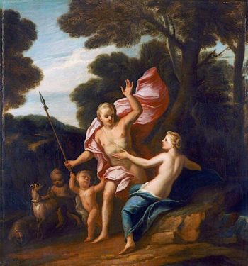 Venus and Adonis | James Thornhill | oil painting