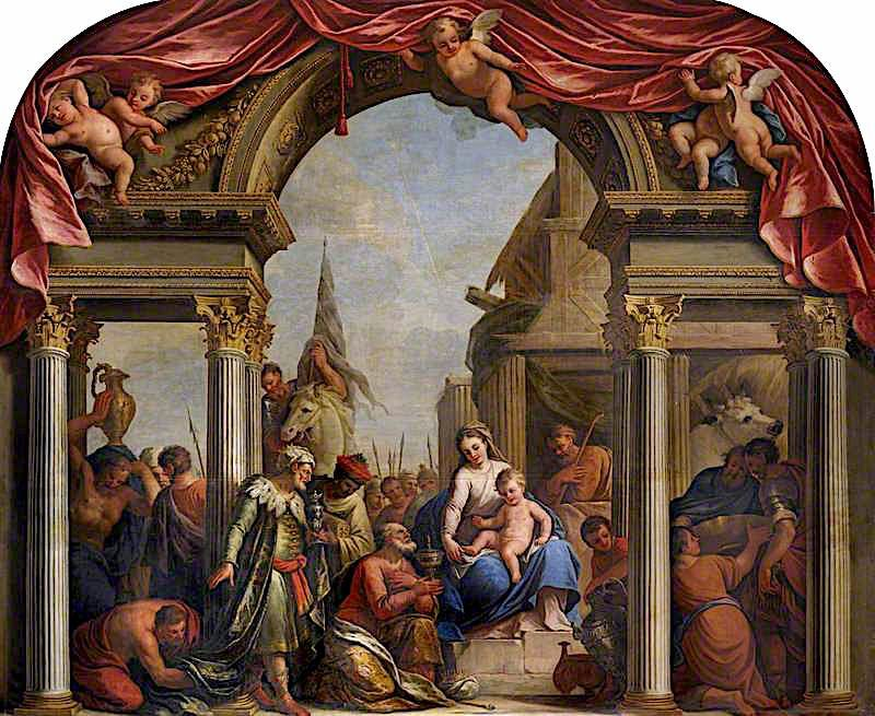 The Adoration of the Magi | James Thornhill | oil painting