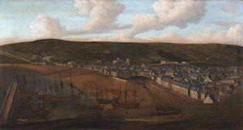 Whitehaven Harbour from Mount Pleasant | Matthias Read | oil painting