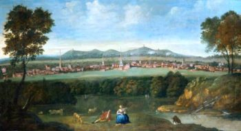 View of Leicester from the South | Matthias Read | oil painting