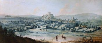 Distant View of Clitheroe | Matthias Read | oil painting
