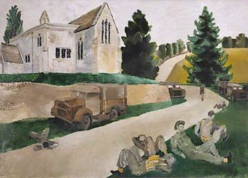 The Minute Halt   Albert Richards   oil painting