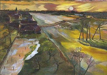 Holland -  The Flooded Maas | Albert Richards | oil painting