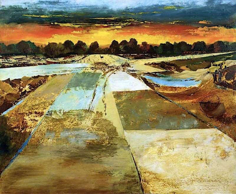 Take - off and Landing Field | Albert Richards | oil painting