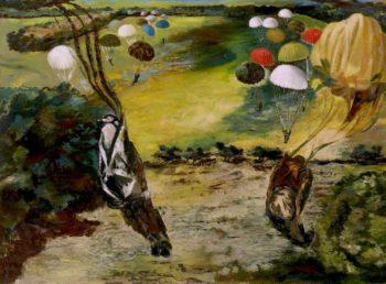 Parachute Jump near Tatton Park   Albert Richards   oil painting