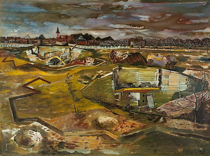 Germany -  The Siegfried Line between Heerlen and Aachen | Albert Richards | oil painting
