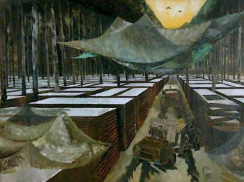 Royal Engineers Dump | Albert Richards | oil painting