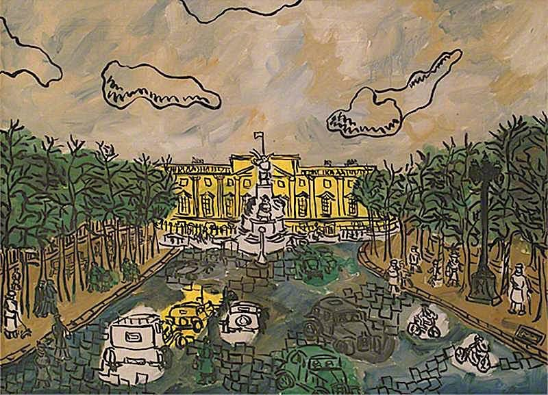 Buckingham Palace from the Mall | Kenneth Hall | oil painting