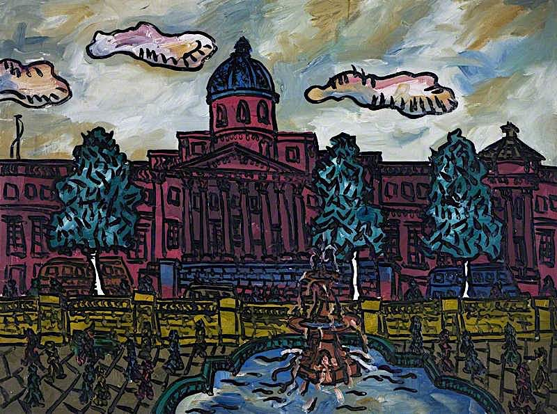 Trafalgar Square IV – October 8th 1937 | Kenneth Hall | oil painting