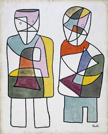 Two Figures | Kenneth Hall | oil painting