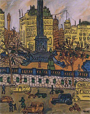Trafalgar Square IV | Kenneth Hall | oil painting