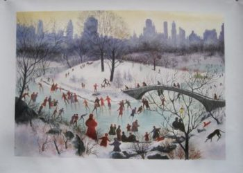 Skating In Central Park 1934