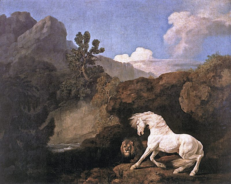 Horse Frightened by a Lion | George Stubbs | oil painting