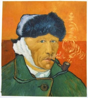 Self Portrait With Bandaged Ear And Pipe 1889