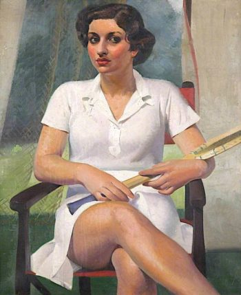 The Tennis Player | Percy Shakespeare | oil painting