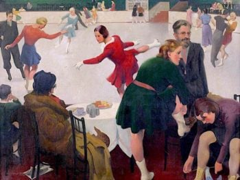 Afternoon at the Ice Rink | Percy Shakespeare | oil painting