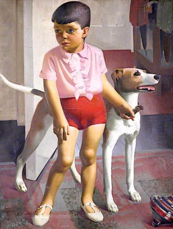 Boy and Dog | Percy Shakespeare | oil painting