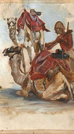 Study of a British Soldier with Two Camels