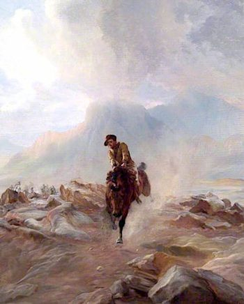 A Yeomanry Scout Galloping with Despatches in the Boer War | Elizabeth Southerden Thompson Butler | oil painting