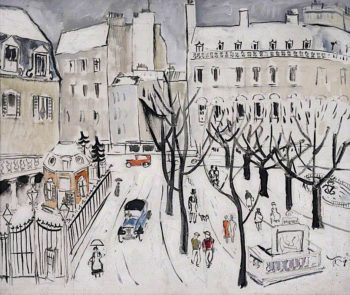 Paris Snow Scene | Christopher Wood | oil painting