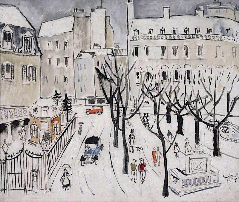 Paris Snow Scene | Christopher Wood | oil painting