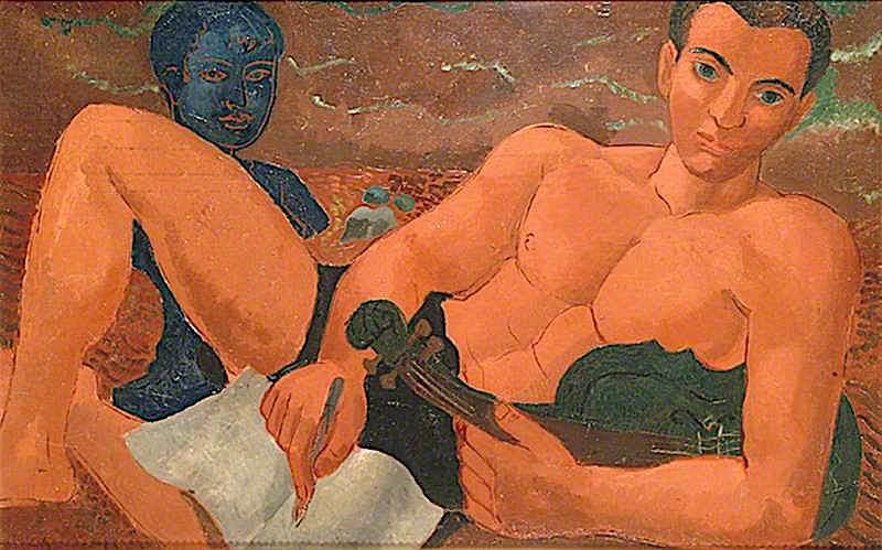 Constant Lambert   Christopher Wood   oil painting