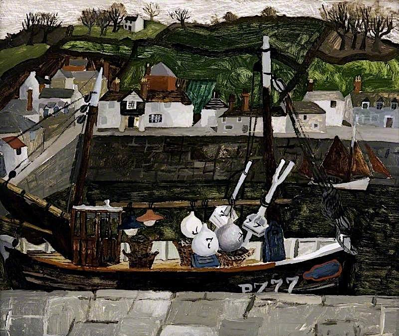 Newlyn   Christopher Wood   oil painting