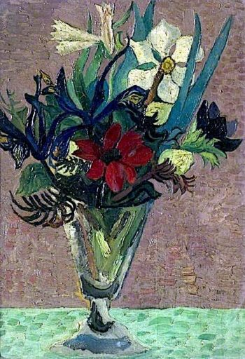 Flowers in a Glass | Christopher Wood | oil painting