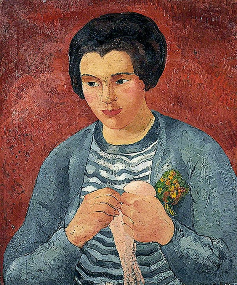 Girl Darning | Christopher Wood | oil painting