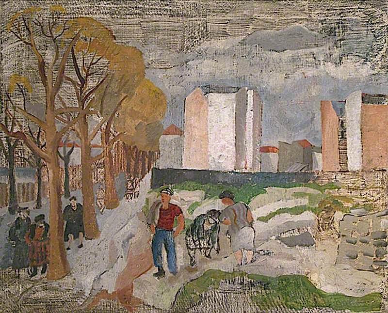Paris under Snow | Christopher Wood | oil painting