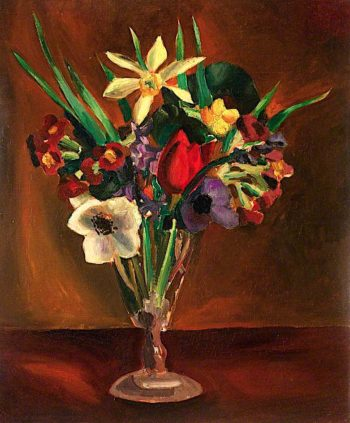 Flowers in a Tall Vase | Christopher Wood | oil painting
