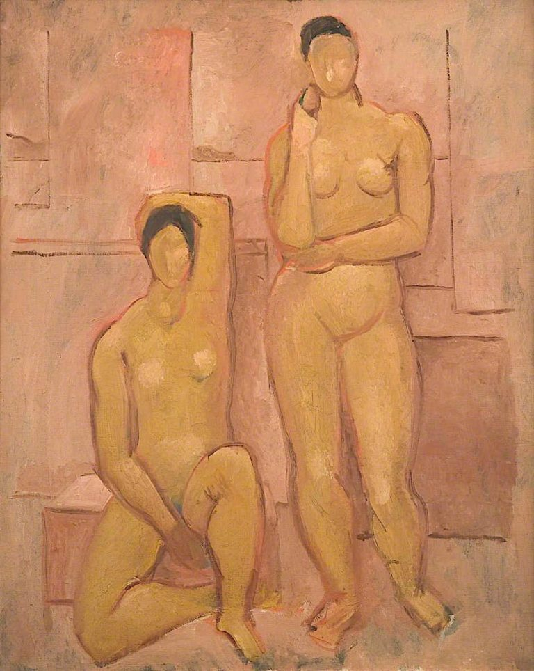 Seated and Standing Nudes | Christopher Wood | oil painting