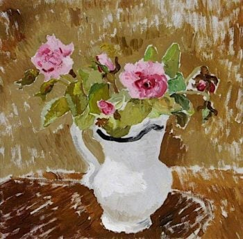 Roses in a White Jug | Christopher Wood | oil painting