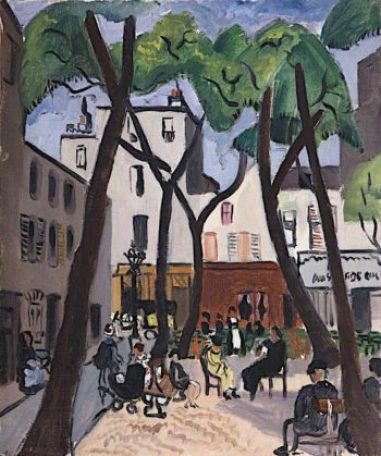 Street Scene with Trees | Christopher Wood | oil painting