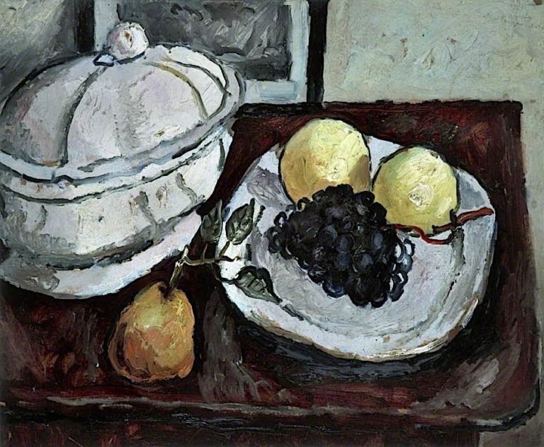 Still Life with a Tureen and Fruit | Christopher Wood | oil painting