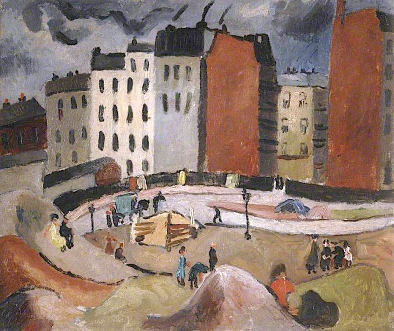 Sandpits by the Seine   Christopher Wood   oil painting