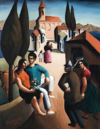 Village in Italy | Christopher Wood | oil painting