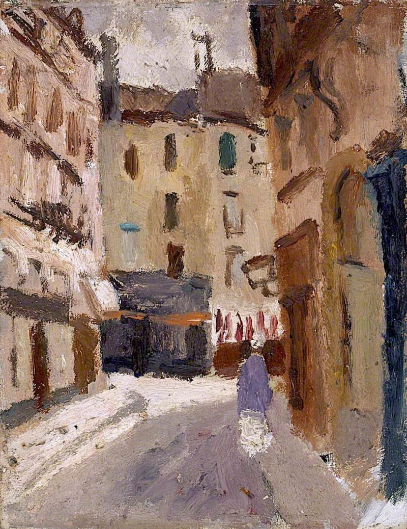 A Street in Nantes | Christopher Wood | oil painting