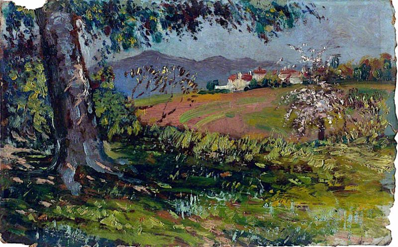 Landscape with Flowering Trees | Isaac Rosenberg | oil painting