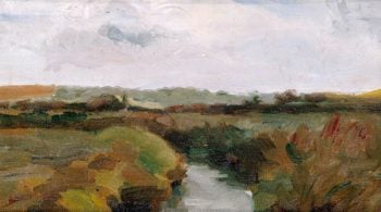 Landscape with River | Isaac Rosenberg | oil painting