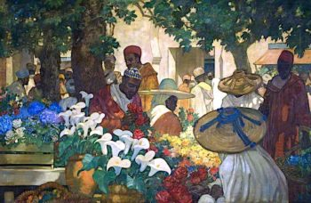 Tangier – the Flower Seller | Kenneth Denton Shoesmith | oil painting