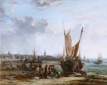 Liverpool from Bootle Sands | Samuel Williamson | oil painting